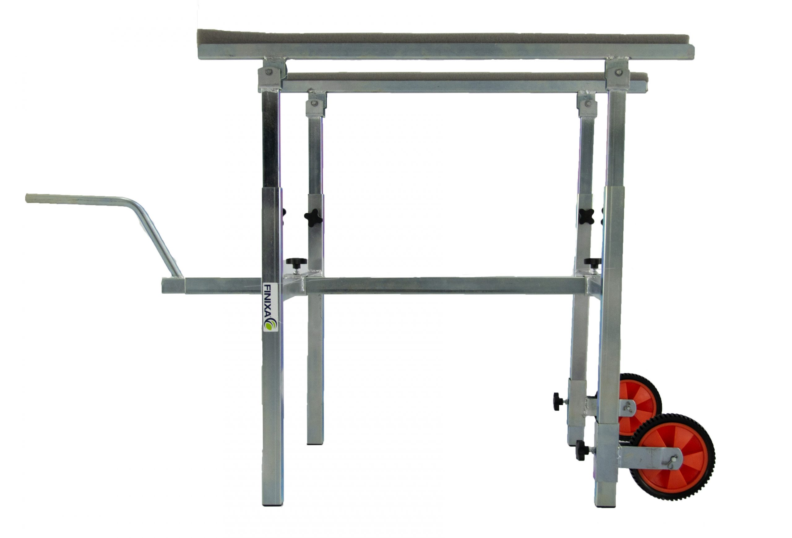 Wheel and panel stand