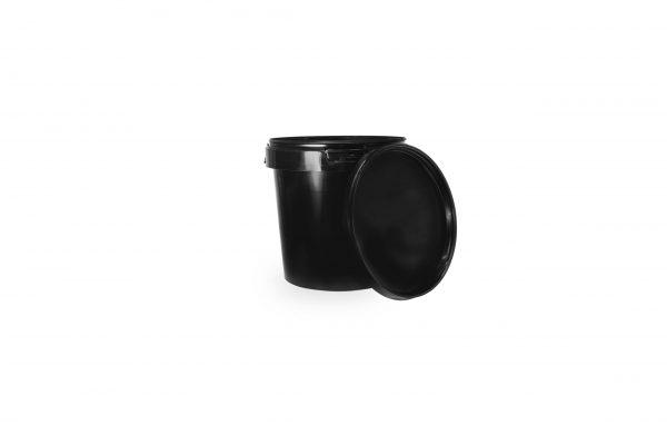 Black Plastic Storage Cups